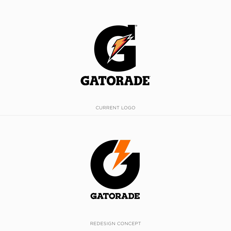 Famous logos redesigned & rebranded concepts - Gatorade