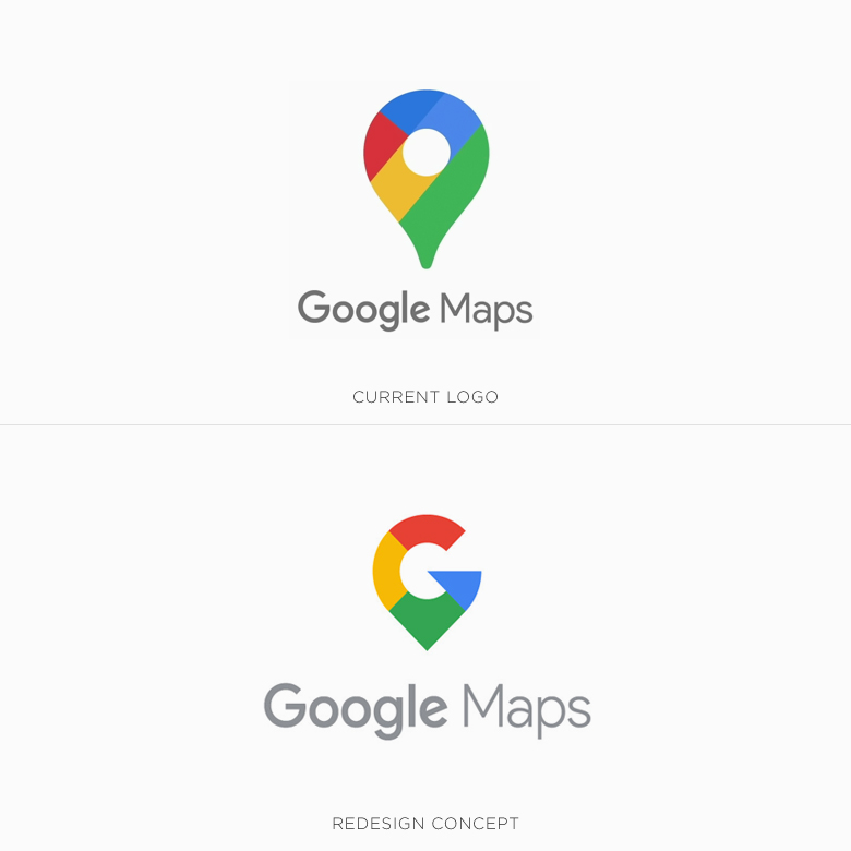Famous logos redesigned & rebranded concepts - Google Maps