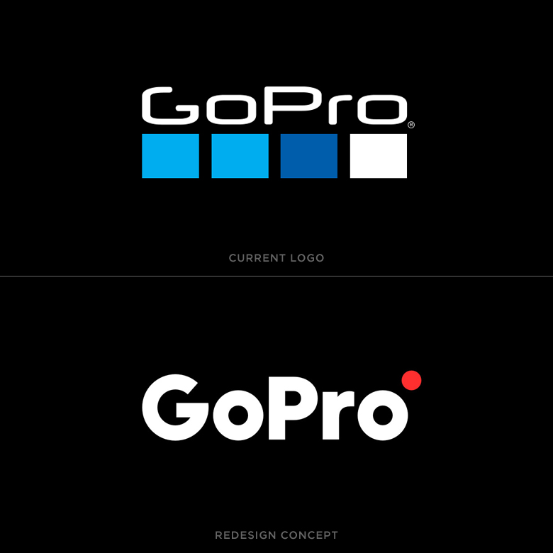 Famous logos redesigned & rebranded concepts - GoPro