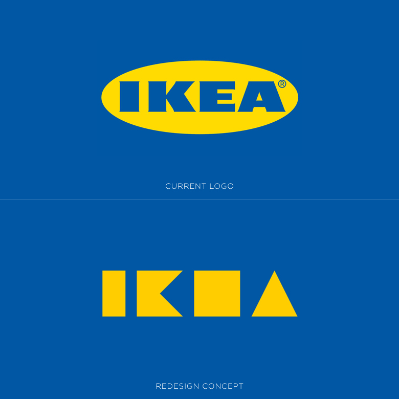 Famous logos redesigned & rebranded concepts - IKEA