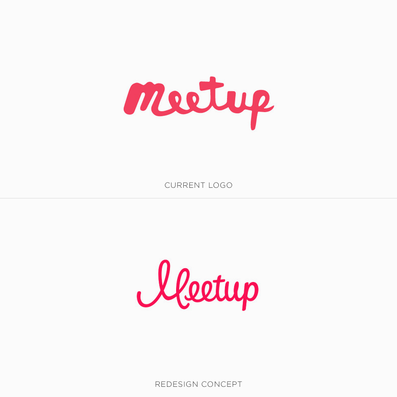 Famous logos redesigned & rebranded concepts - Meetup