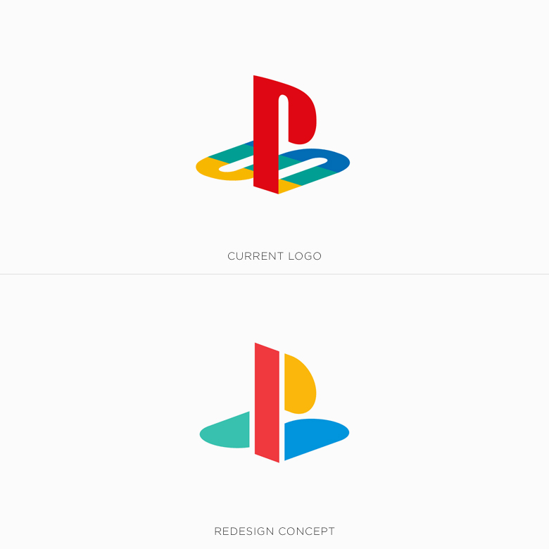 Famous logos redesigned & rebranded concepts - PlayStation