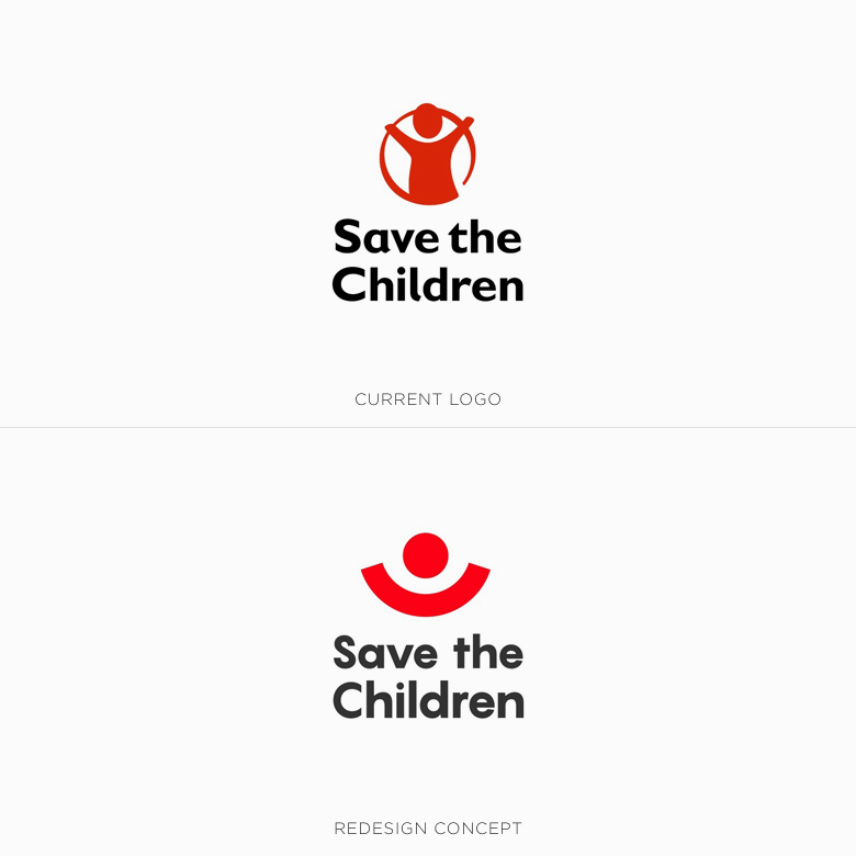 Famous logos redesigned & rebranded concepts - Save the Children