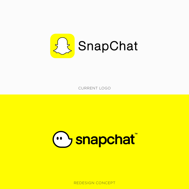 Famous logos redesigned & rebranded concepts - Snapchat