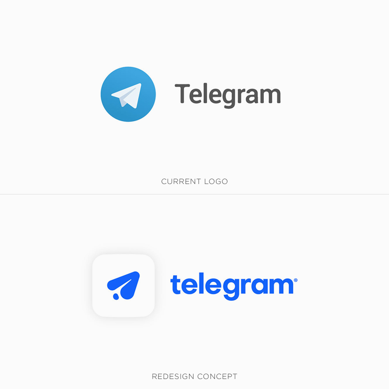 Famous logos redesigned & rebranded concepts - Telegram