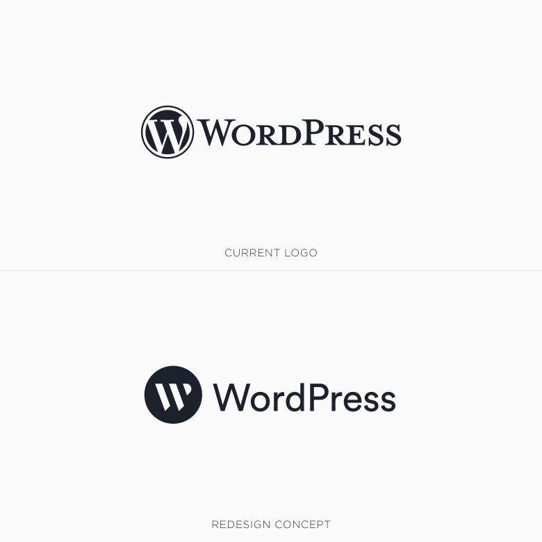 Famous logos redesigned & rebranded concepts - WordPress