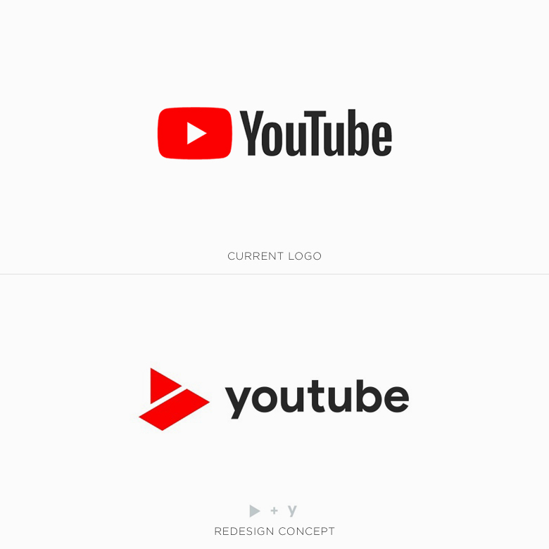 Famous logos redesigned & rebranded concepts - YouTube