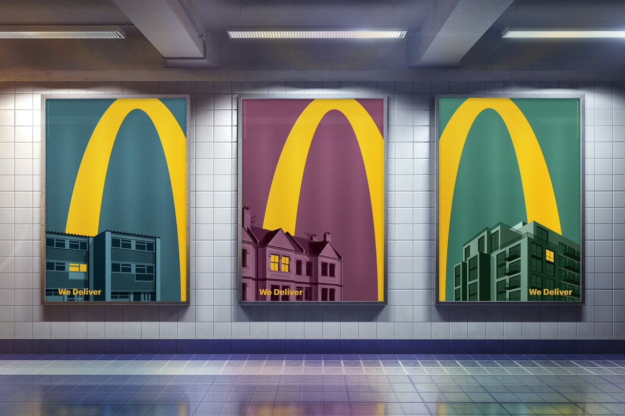"McDonald's - ""Lights On"" by Leo Burnett London (Metro station)"