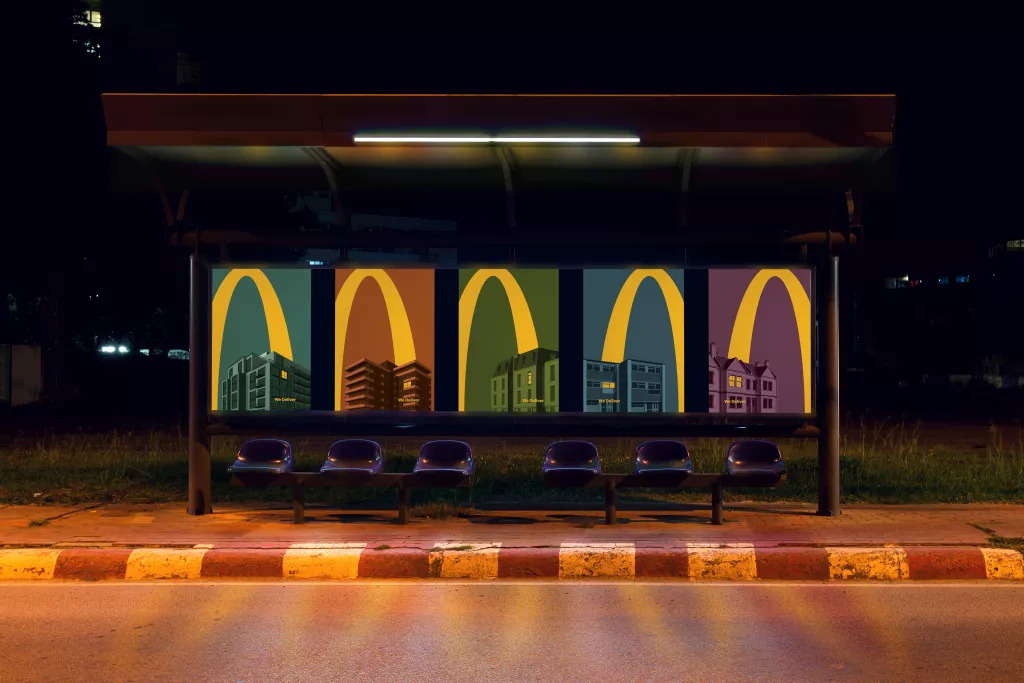 "McDonald's - ""Lights On"" by Leo Burnett London (Bus stop)"