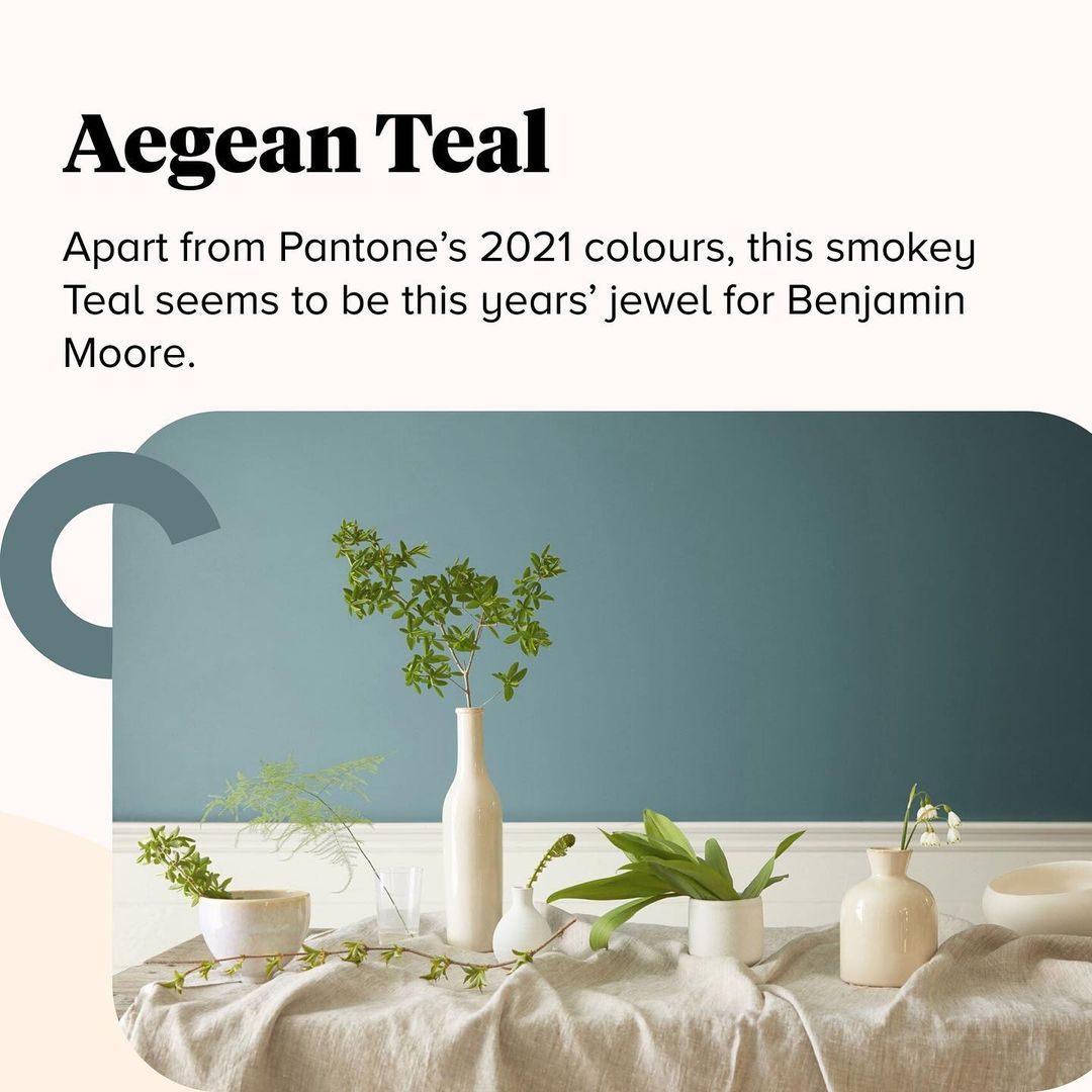 2021 Color Trends - Aegean Teal