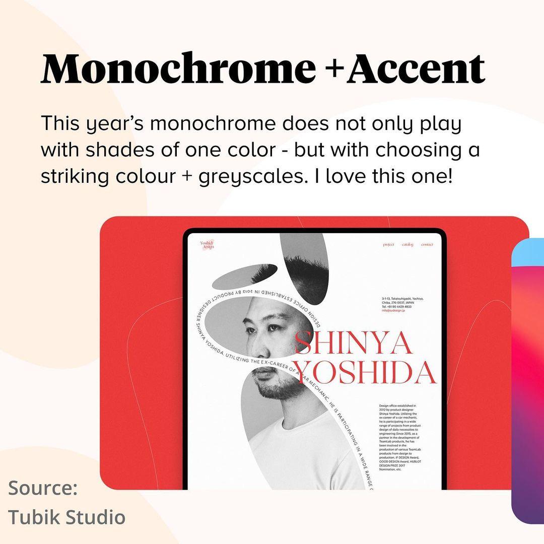 2021 Color Trends - Monochrome + Accent