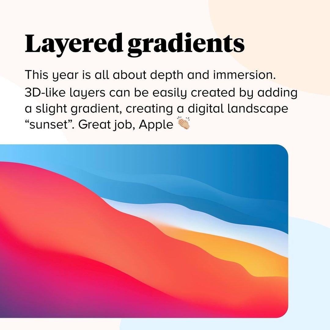 2021 Color Trends - Layered Gradients
