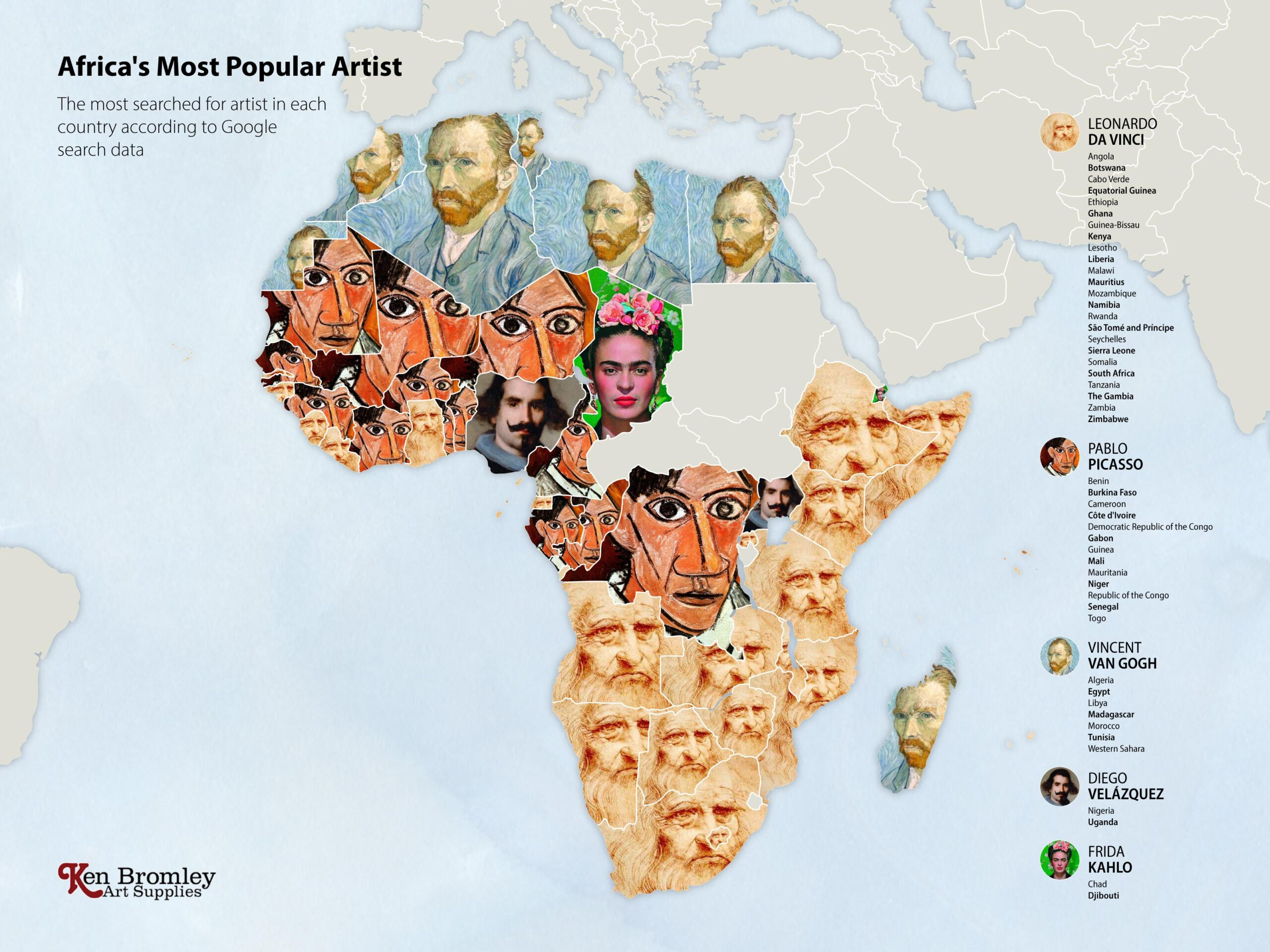 The most popular artists in Africa