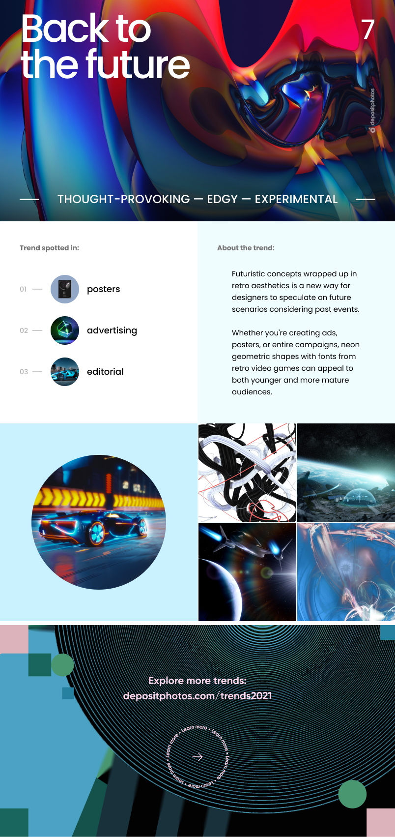 Top 7 Graphic Design Trends For 2021 - Back to the future