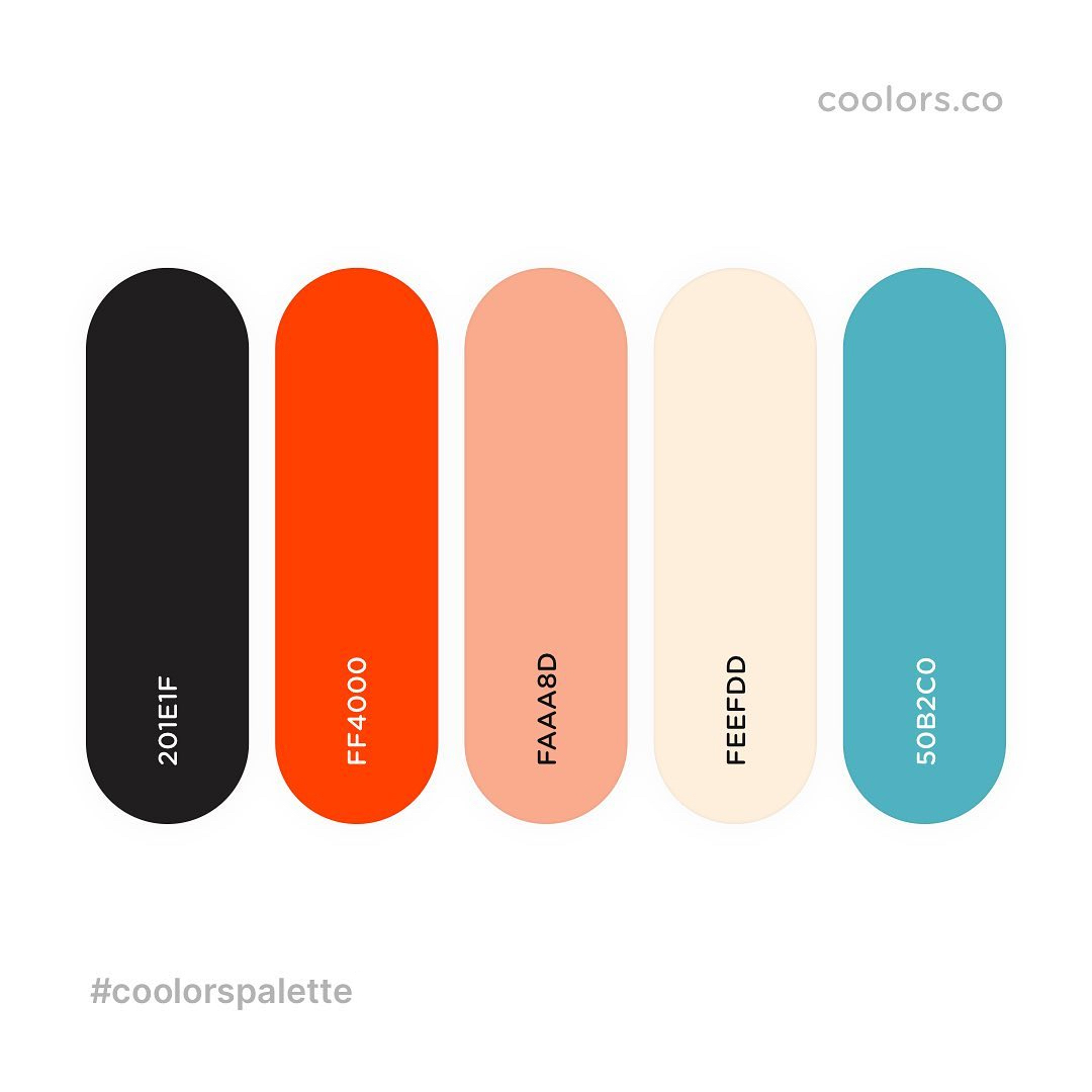 Black, red, yellow, blue color palettes, schemes & combinations