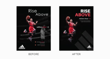 Graphic Designer Improves Adidas Ads By Simply Changing The Typography