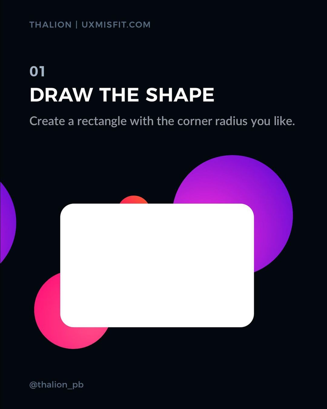 How to create a stunning glass effect for your UI designs - Draw the shape