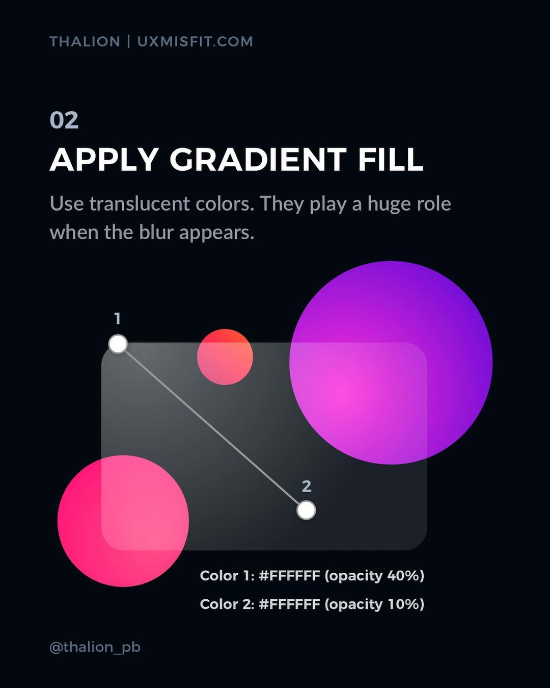 How to create a stunning glass effect for your UI designs - Apply gradient fill