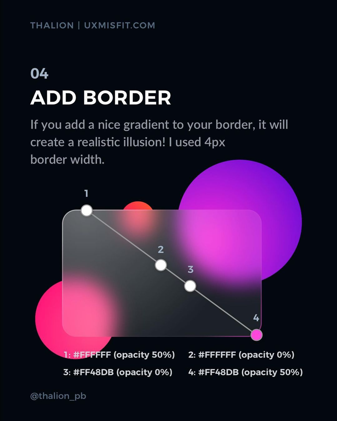 How to create a stunning glass effect for your UI designs - Add border