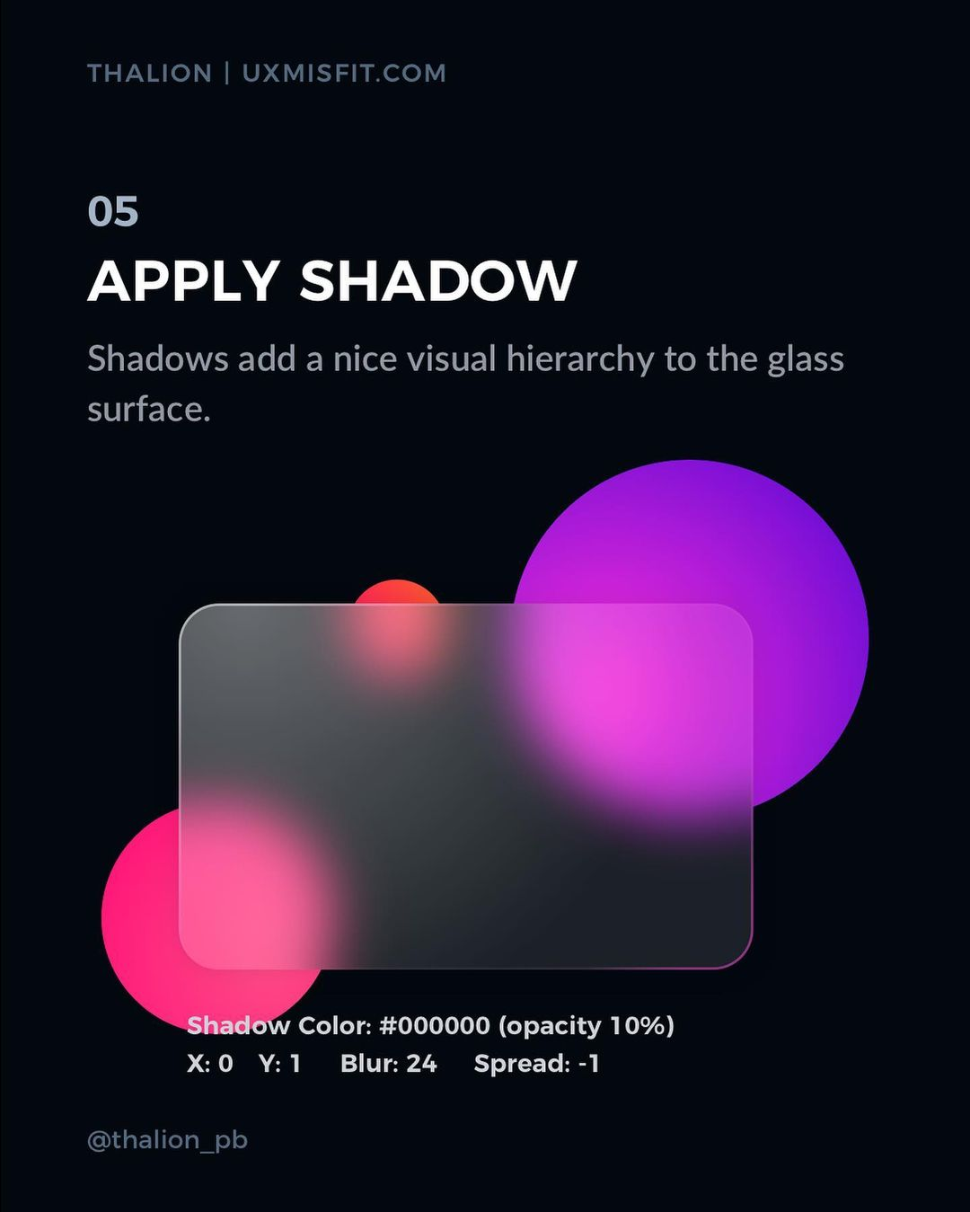 How to create a stunning glass effect for your UI designs - Apply shadow