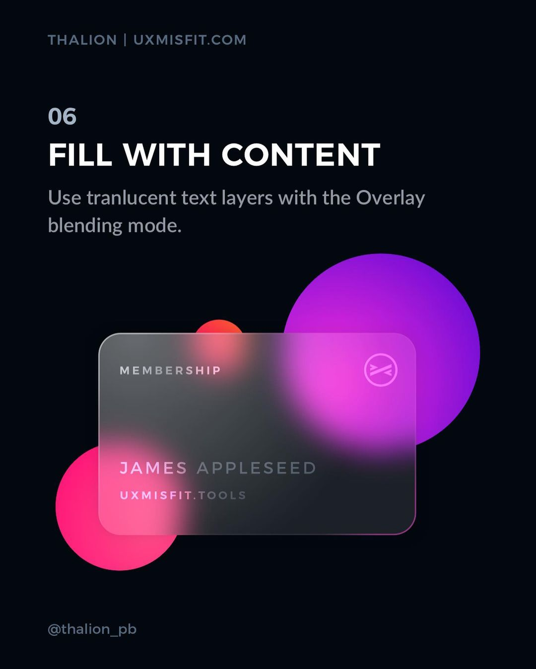 How to create a stunning glass effect for your UI designs - Fill with content