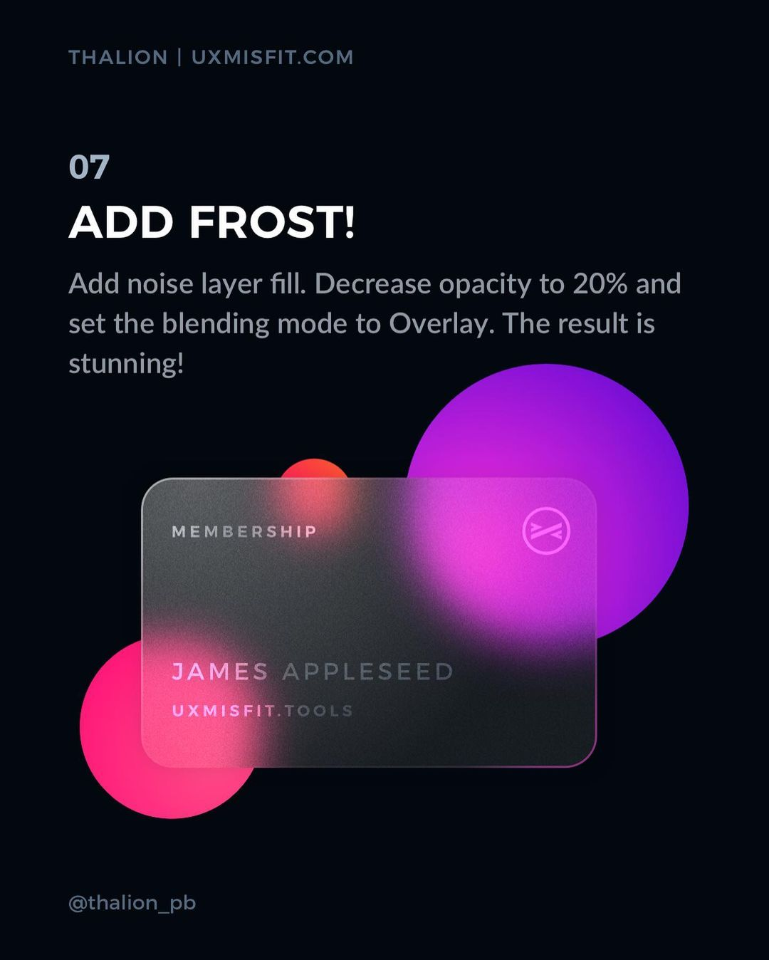 How to create a stunning glass effect for your UI designs - Add frost