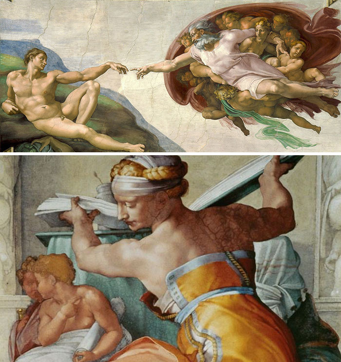 """""""If everyone in the painting looks unreasonably jacked, including the women, it's a Michelangelo"""""""
