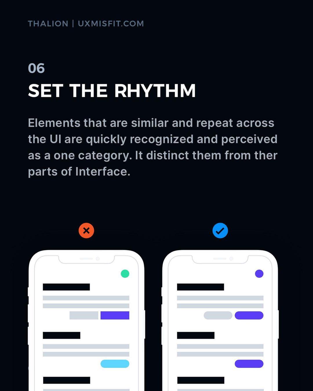 Visual Hierarchy tips - Set the rhythm