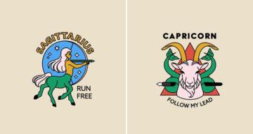Adobe Shares Creative Logos For Every Zodiac Sign