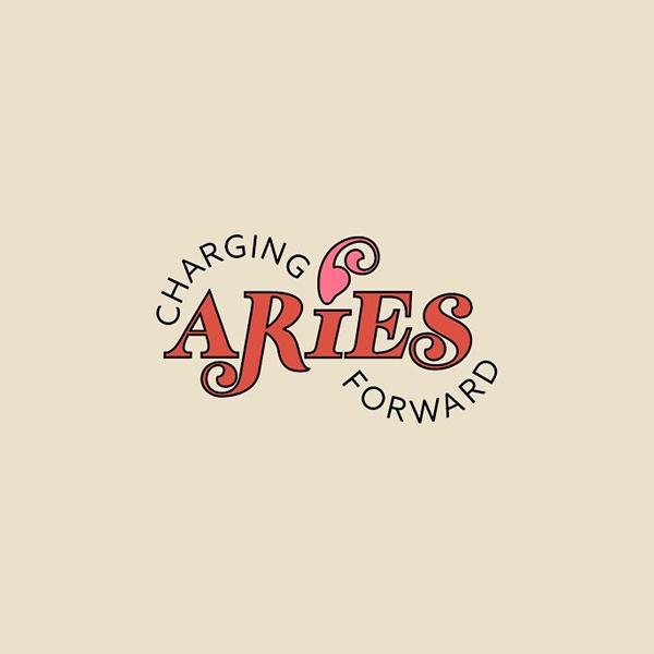 Creative logo for zodiac signs - Aries