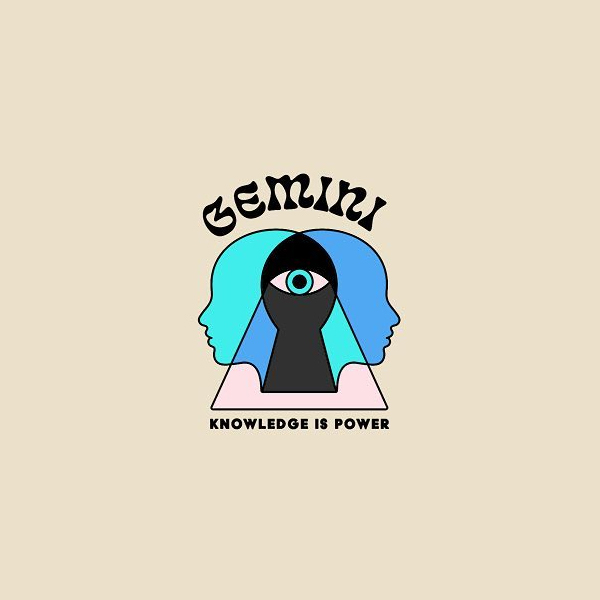 Creative logo for zodiac signs - Gemini