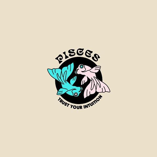 Creative logo for zodiac signs - Pisces