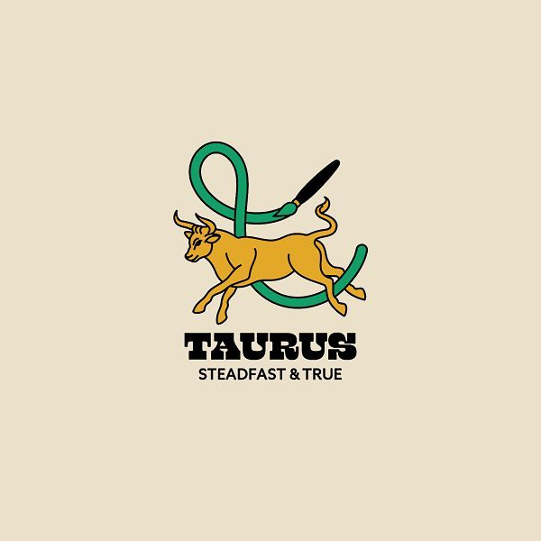 Creative logo for zodiac signs - Taurus