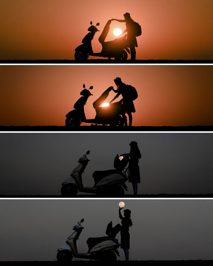 Creative Sunset Silhouette Photos - 1
