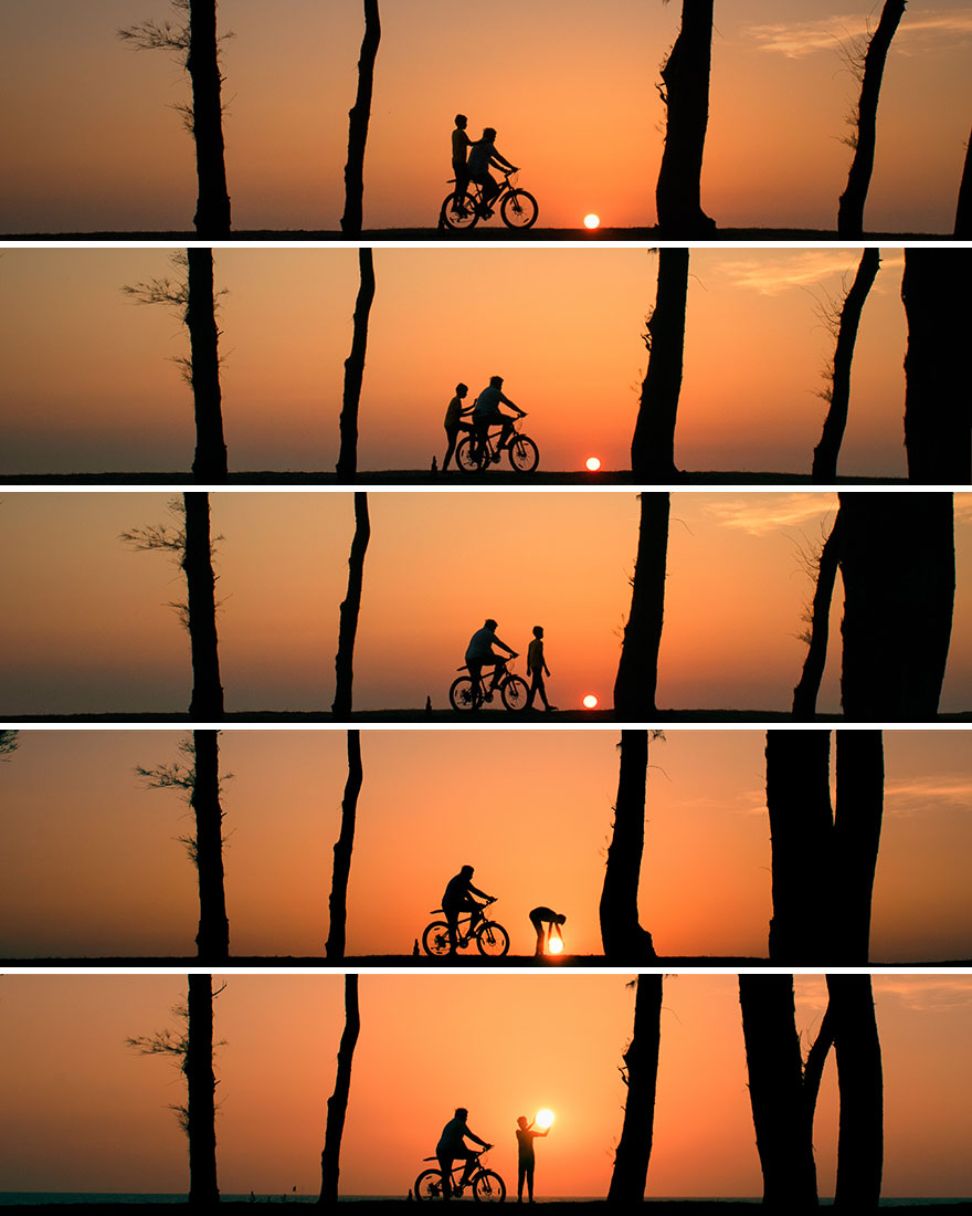Creative Sunset Silhouette Photos - 11