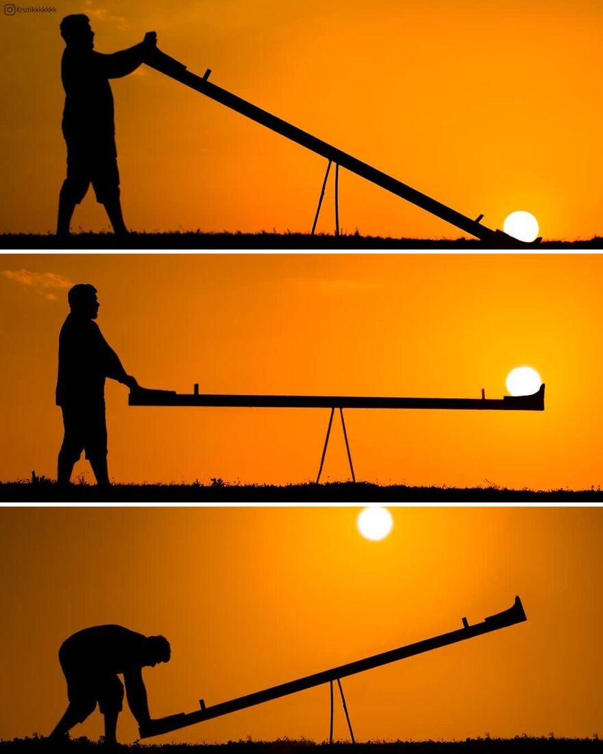 Creative Sunset Silhouette Photos - 14