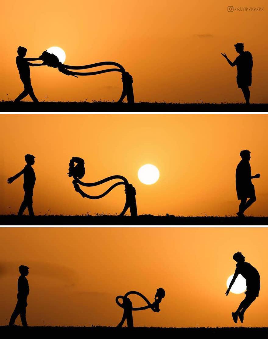 Creative Sunset Silhouette Photos - 18