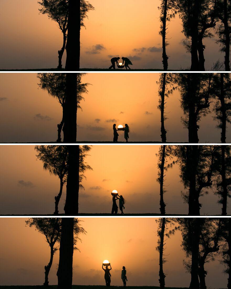 Creative Sunset Silhouette Photos - 6