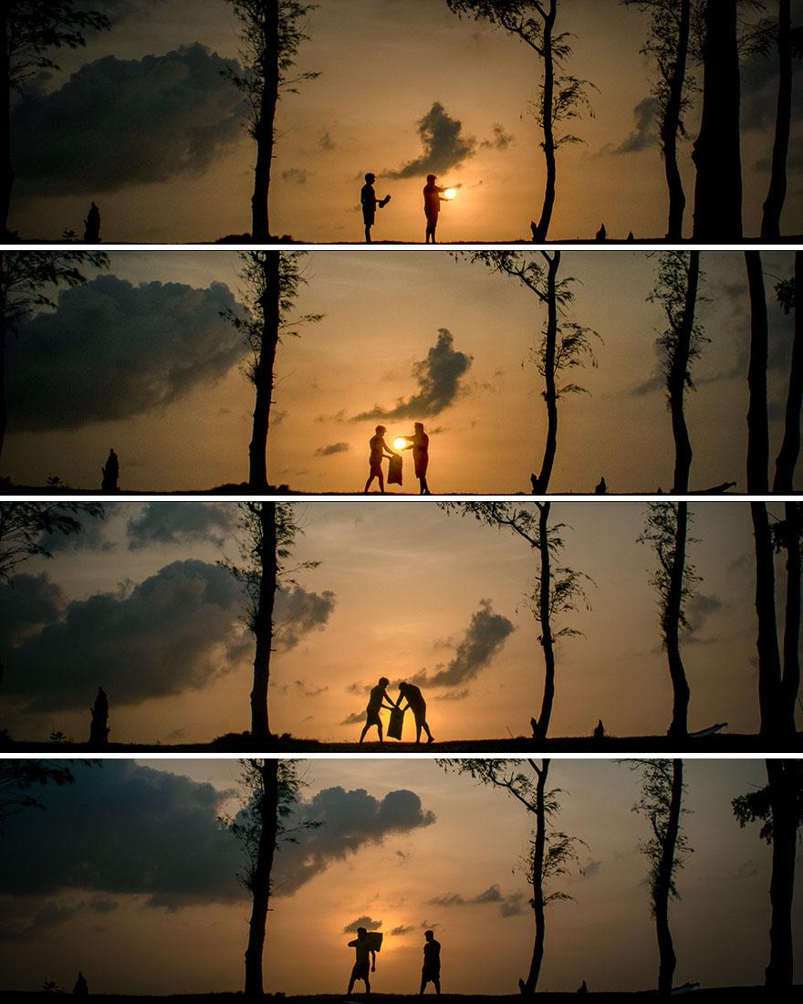 Creative Sunset Silhouette Photos - 8
