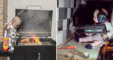 Dad Photoshops His Kids Into Dangerous Situations To Freak Out Mom At Work