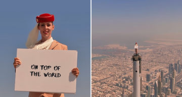 Woman Stands On Top Of Burj Khalifa In Incredible Emirates Ad; Airline Shows How It Was Filmed