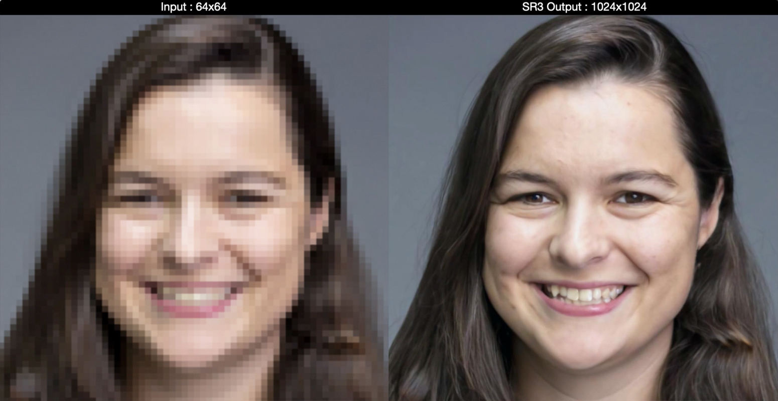 Google AI Turns Low-Res Images To High-Res - Super Resolution SR3 Model (1)