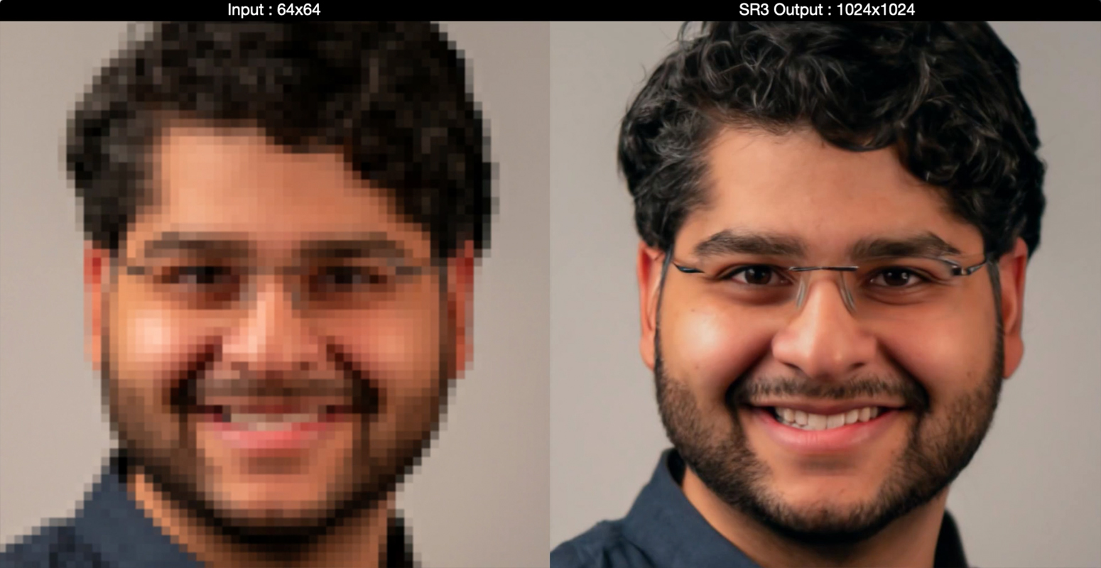 Google AI Turns Low-Res Images To High-Res - Super Resolution SR3 Model (2)